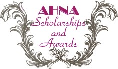 AHNA Scholarship and Award Scroll