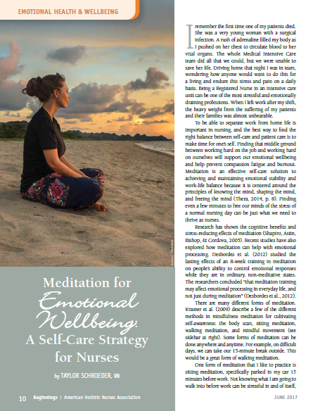 meditation emotional well-being